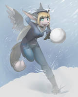 Snowball Fight! by MOOMANiBE