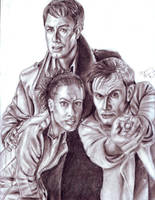The Doctor and his Team 1 by pythonorbit