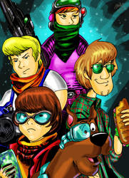 Scooby Doo's Ready for the Apocalypse by pythonorbit