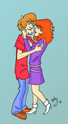 Shaggy and Daphne Love by pythonorbit