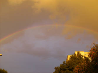 Rainbow over Wroclaw 1 by uxokka