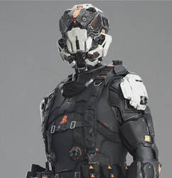 Concept SF character for CG trailer by tontonkoutal