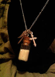 Supernatural Castiel Themed Necklace by Van-helsa124