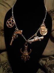 Supernatural Dean Winchester Themed Necklace by Van-helsa124