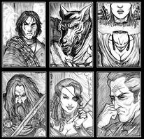 Ravenloft portraits 1 by Everwho