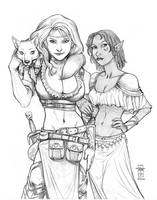 Vecca Vex and Sushalla by Everwho