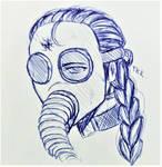 Unbreathable (#3 Pen Sketch) by TheKikkaKibaz