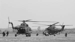 Mi-24 and Mi-8 by cnv