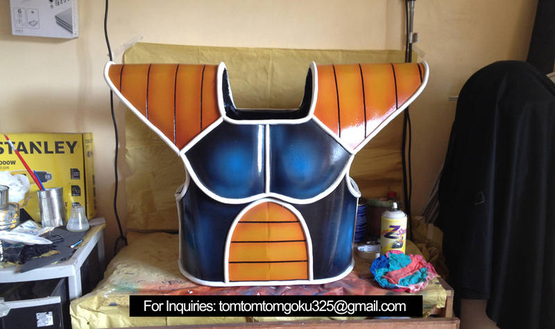 Dragonball Z Nappa Saiyan Armor by jeffbedash325
