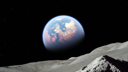 Pale Blue Dot by MolDesignStudio
