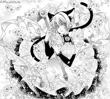 Cat costume Sakura-chan by Florineil-chan