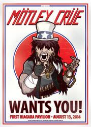 Motley Crue Gig Poster by nosmallvictories