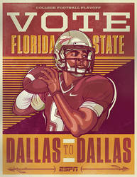 College Football Campaign Posters for ESPN by nosmallvictories