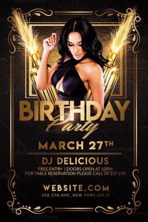 Birthday Flyer Template By Ekxotemplate On Deviantart