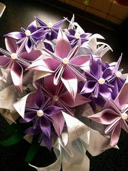 Bouquet of flowers origami by OldCook