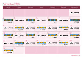 DBNA Calendrier decembre 2013 by Avelios