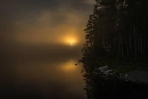 Misty sunrise by mabuli