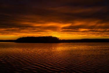 Burning sky III by mabuli