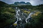 Lofoten waterfall by mabuli