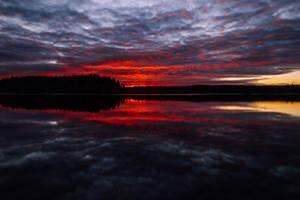Red sunset II by mabuli