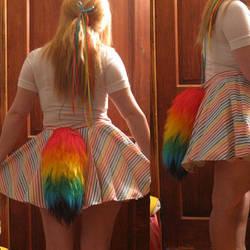 Rainbow Yarn Tail by GetFursonal