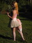 Pink and White Fox Yarn Tail by GetFursonal