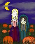 Weird Girl and Edgar: Hocus Pocus Pumpkin Patch by sailorlovesong