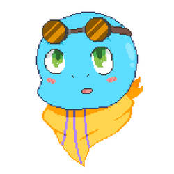 Mira the Squirtle - Pixel Art OC by King-0f-Pirates