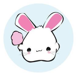 cotton candy bunny by irishkings
