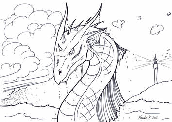 Colouring Picture - Seadragon by YikYik