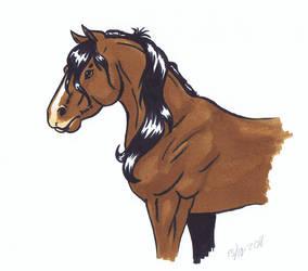 Horse doodle by YikYik