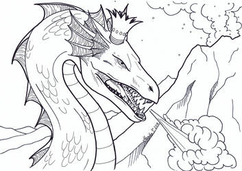 Colouring Picture - Dragon King/Queen by YikYik