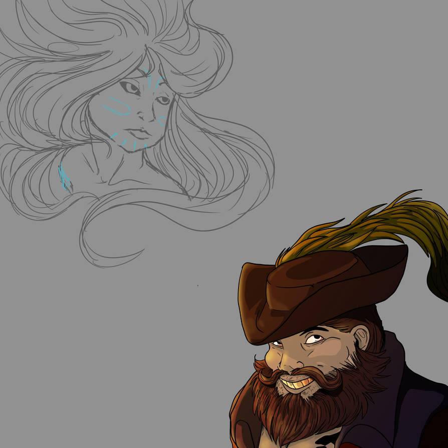 Captain Grimsail + [Sedna Sketch] by ReineofAberrants