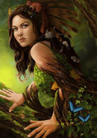 Goddess of the forest by Valyavande