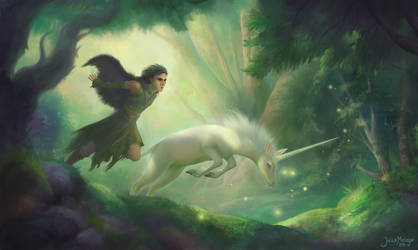 The Unicorn and the Dreamwalker by Valyavande