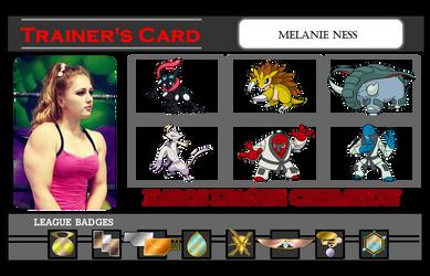 Pokemon Trainer Card - Melanie Ness 3 by Poyzund
