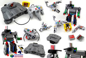 The LEGO / Nintendo 64 / Transformer project by VonBrunk