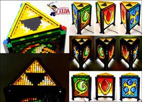 Mosaic LEGO Legend of Zelda Spiritual Stone Lamp by VonBrunk