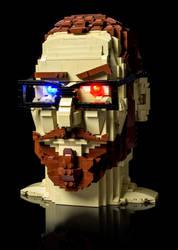 Brunk's Head in 3-D by VonBrunk