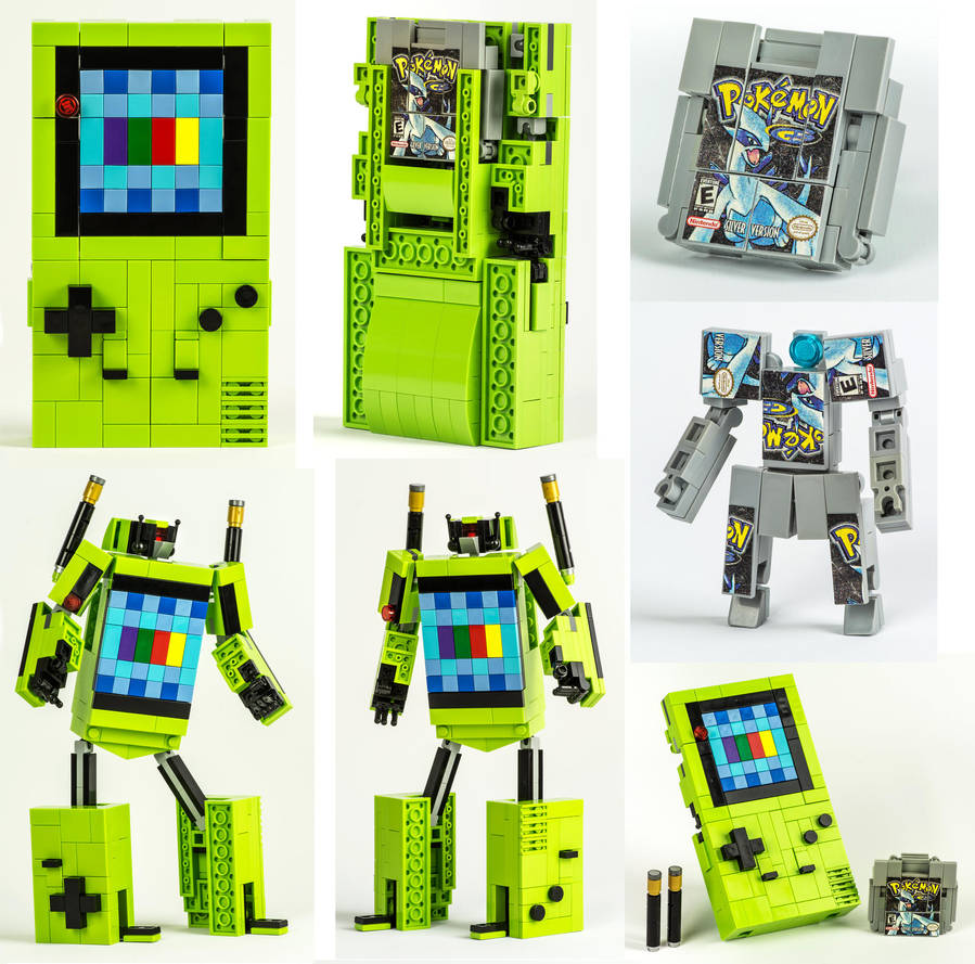 LEGO Game Boy Color / Pokemon Silver Transformers by VonBrunk
