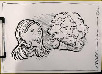 Inktober 2017 Day03 Caricature05 by weresqwirrel