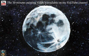 30 Minutes Painting (1) - Easy Moon by SagaFineArts