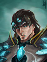 League of Legends: Fan Art Taric by Ariss18