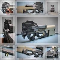 Cardboard P90 by HeavyBenny