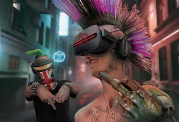 CyberZINE - Cyberpunks by HeavyBenny