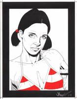 Lina in Austrian Bikini by Knifley