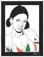 Lina in Irish Bikini by Knifley