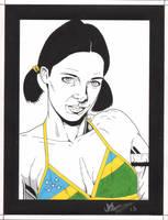 Lina in Soloman Islands Bikini by Knifley
