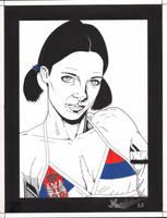 Lina in Serbian Bikini by Knifley