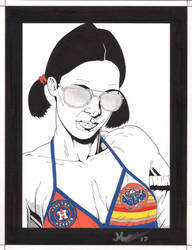 Lina in Houston Astros Bikini by Knifley